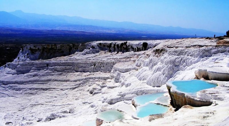 Pamukkale – gorące źródła w Turcji