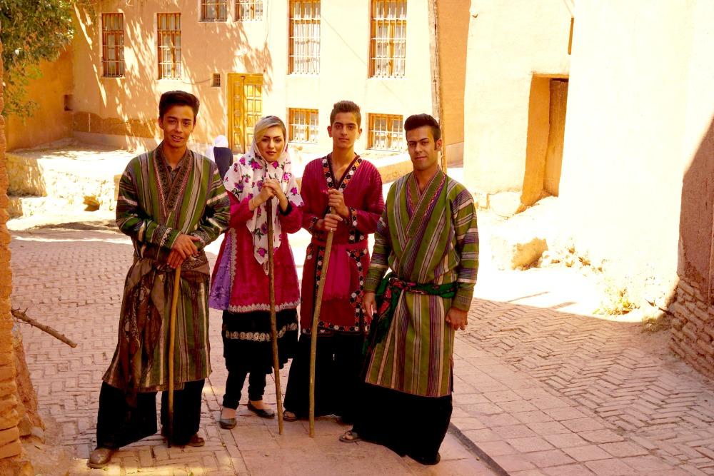 Tradycyjne stroje mieszkańców Abyaneh