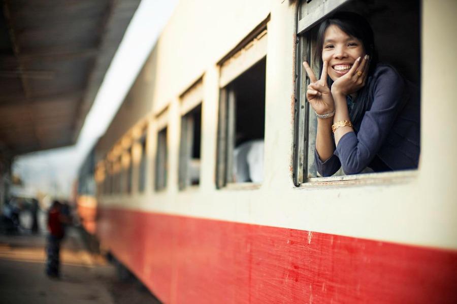 Pociągiem przez Mjanmę