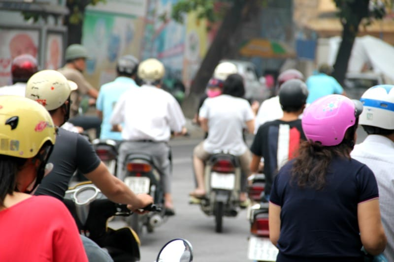 Motocykl, to najpopularniejszy środek lokomocji w Wietnamie