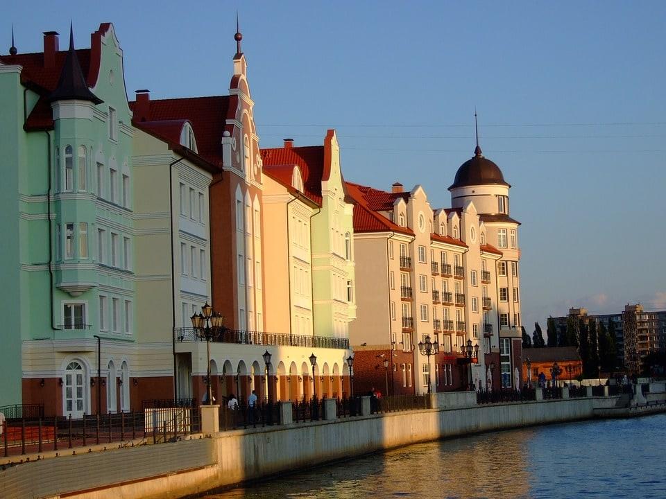 Wioska rybacka w Kaliningradzie.