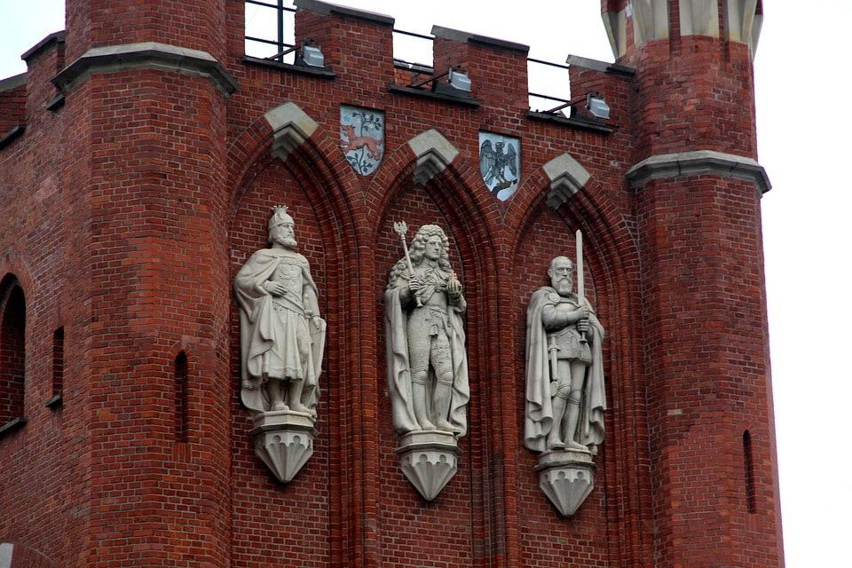 Brama królewska w Kaliningradzie.