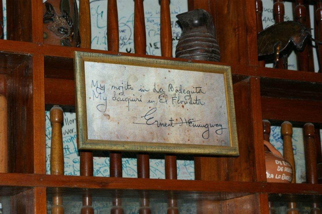 Pamiątkowa tablica, Hemingway, Hawana, Kuba